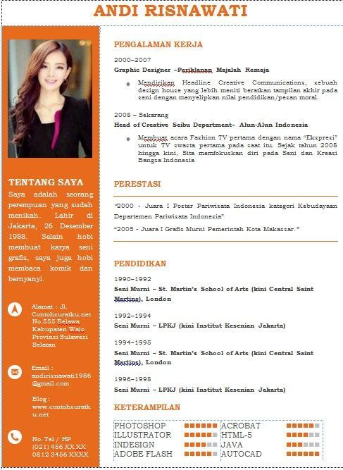 Format Resume Yang Menarik Cv Kreatif Creative Cv Template