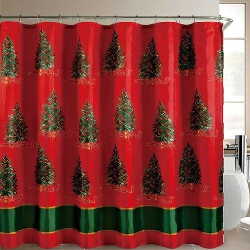 Christmas Shower Curtain Set Shower Curtain Sets Christmas