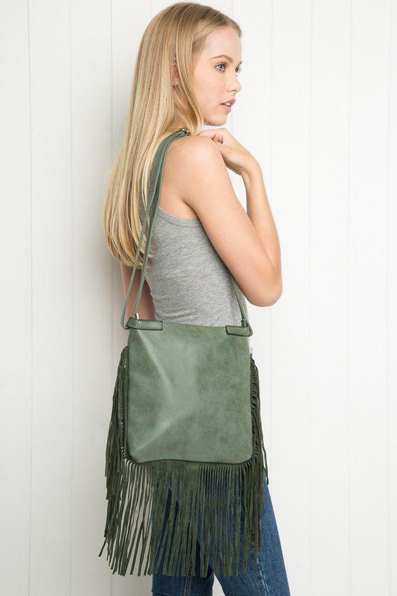 Brandy ♥ Melville | Fringe Shoulder Bag - Accessories
