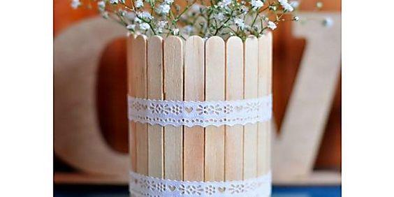 10 ideias para reaproveitar palitos de picolé na decoração