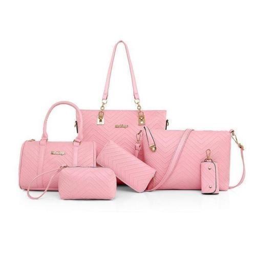 New Lady Handbag 6 Pcs Set Composite