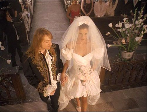 ''Favorite Guns and Roses video and song...while real life girlfriend and model starred beside him....November Rain''