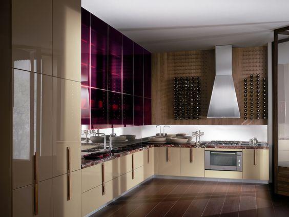 Cozinha lacada com maçanetas BARRIQUE | Cozinha de mármore - ERNESTOMEDA