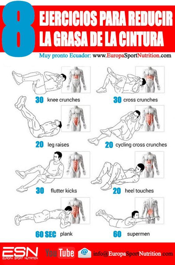 Tus ejercicios para reducir la grasa de la cintura