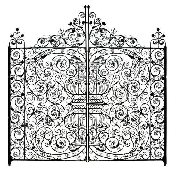 Beautiful Italian 1800s Circa Wrought Iron Fence Antique