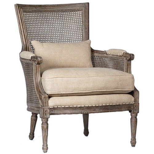 Handwoven Cane Wicker Accent Chair Antiqued With Images