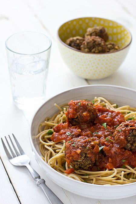 Lentil Mushroom Meatballs | Recipe | Vegan meatballs ...