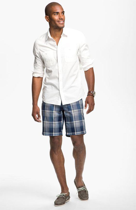 Bermuda xadrez com camisa despojado way.: