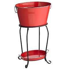 Red Metal Beverage Tub - modelo would look rather nice in that!: