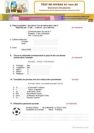 Compréhension De L Oral A2 Epingle Sur Istruzione