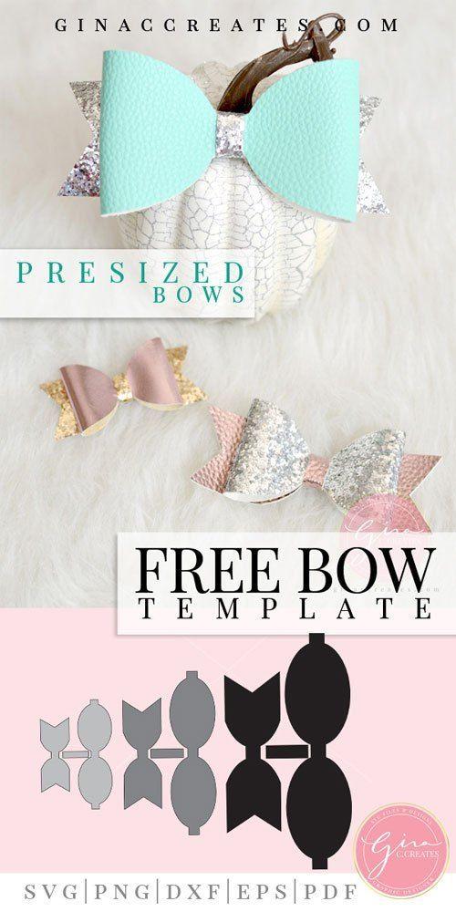 Hair Bow PDF Cricut Bow Cut File Bow Templates Bow SVG Bundle Hair Bow Starter Pack