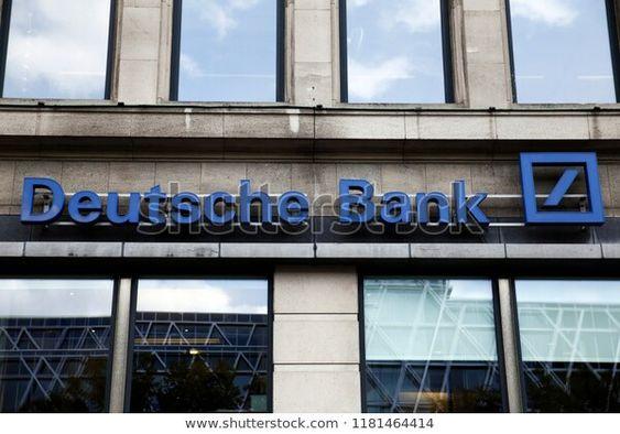 Deutsche Bank branch in Brussels ,Belgium on Sep. 14, 2018
