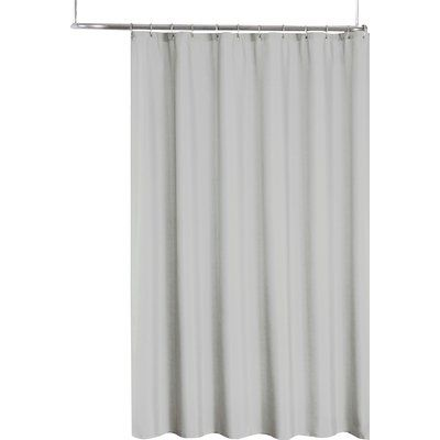 Symple Stuff 2 In 1 Single Shower Curtain Color Silver Vinyl