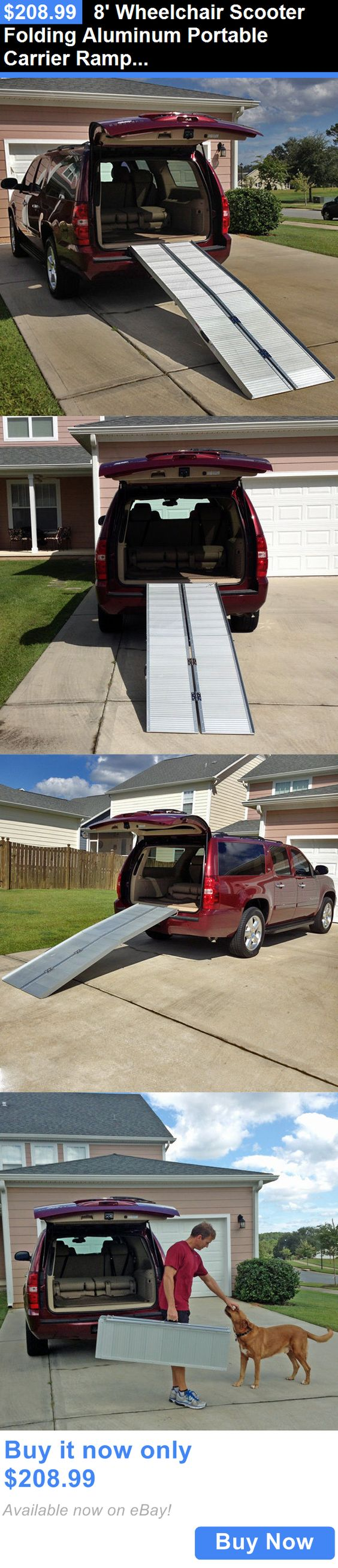 Access Ramps: 8 Wheelchair Scooter Folding Aluminum Portable Carrier Ramp: 7 9 Van Handicap BUY IT NOW ONLY: $208.99