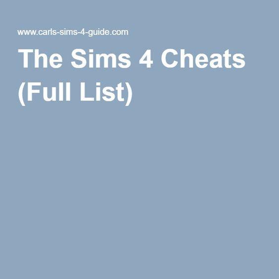 sims 4 cheats ps4