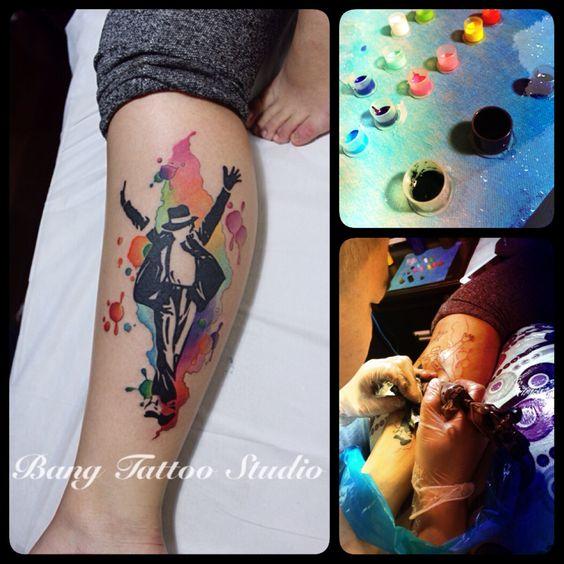 Michael Jackson tattoo by-bang tattoo studio