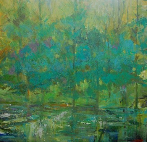 Karen Keil Brown Ethereal Landscapes             Along the Stream