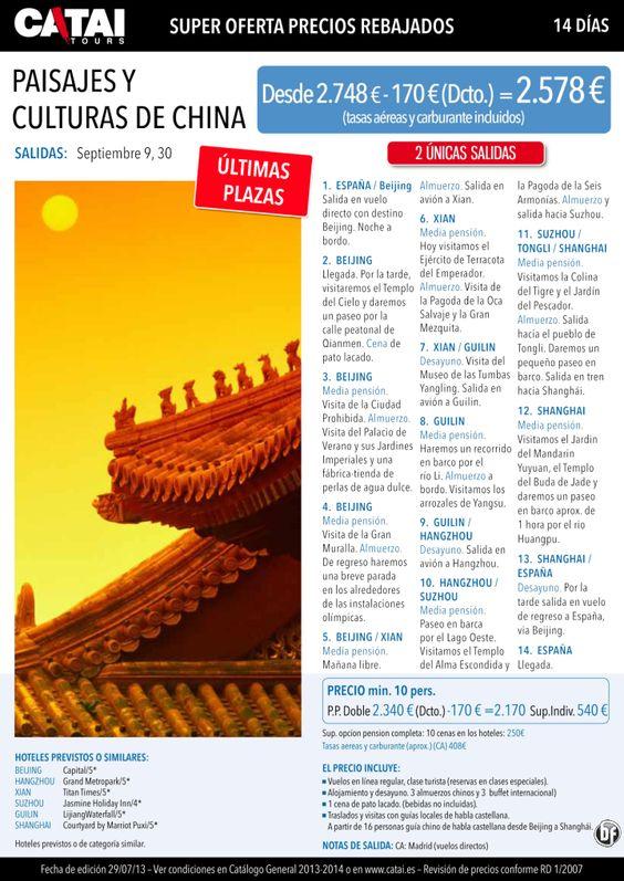 Super oferta-precios rebajados: Paisajes y Culturas de CHINA, últimas plazas, 14d desde 2.578€ - http://zocotours.com/super-oferta-precios-rebajados-paisajes-y-culturas-de-china-ultimas-plazas-14d-desde-2-578e/