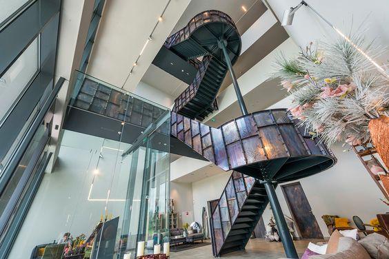 #IIIEIIIO Architecten #Lifestyle94 #Hoorn #Stairs #Copper #Perforated