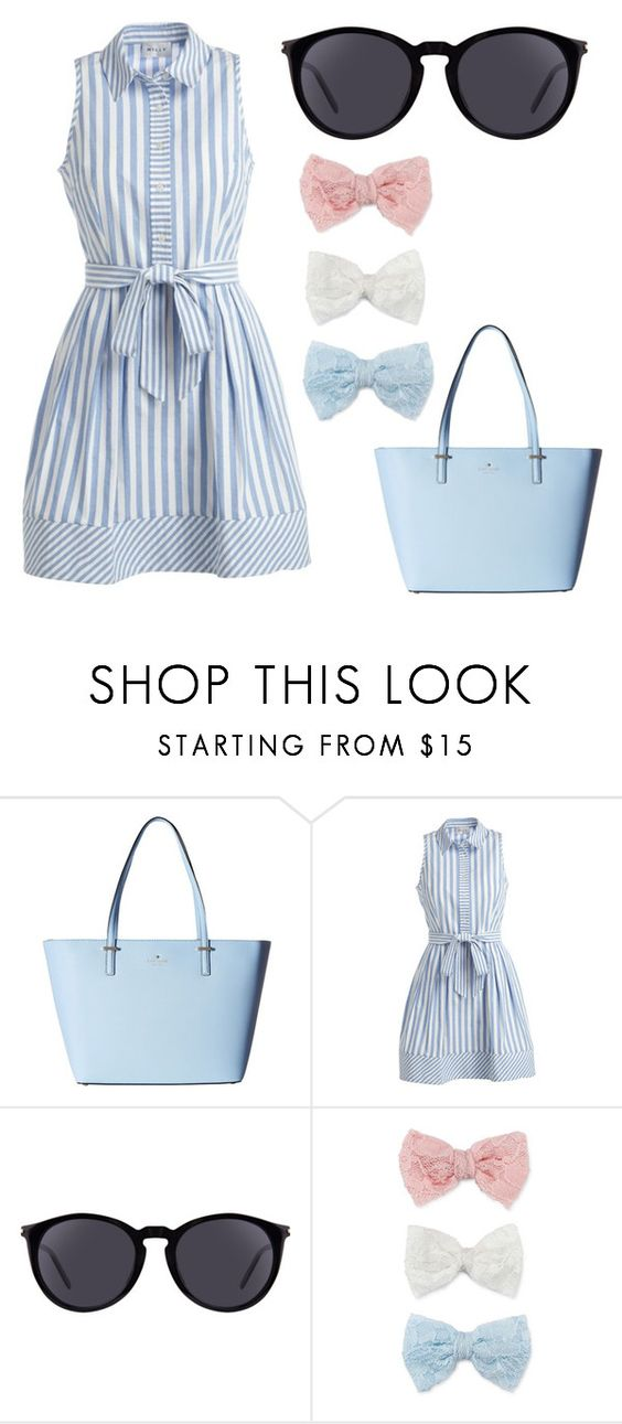 """Great outfit for a picnic date "" by jessicasfashions ❤ liked on Polyvore featuring Kate Spade, Milly, Yves Saint Laurent and Decree"