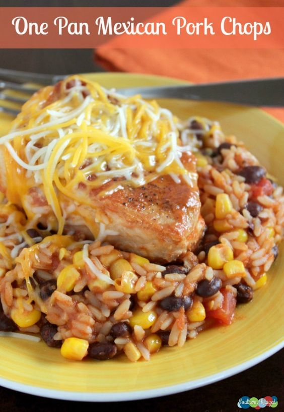 If your family enjoys Mexican dishes, this delicious One Pan Mexican Pork Chops recipe is just the thing! It's an easy, hearty and delicious recipe!