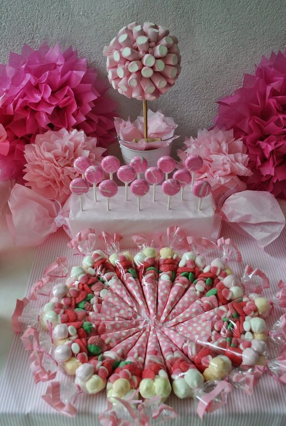 Candy thanks and mesas on pinterest for Ideas para decorar mesa de dulces