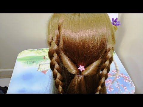تسريحة شعر سهله وجميلة للبنات الصغار والكبار للمدرسة للمناسبات Easy Hairstyels For Girl Youtube Hair Wrap Hair Hair Styles