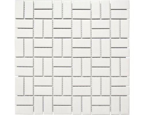 Carrelage Octogone A Cabochons Blanc Mat 20x20 Cm As De Carreaux