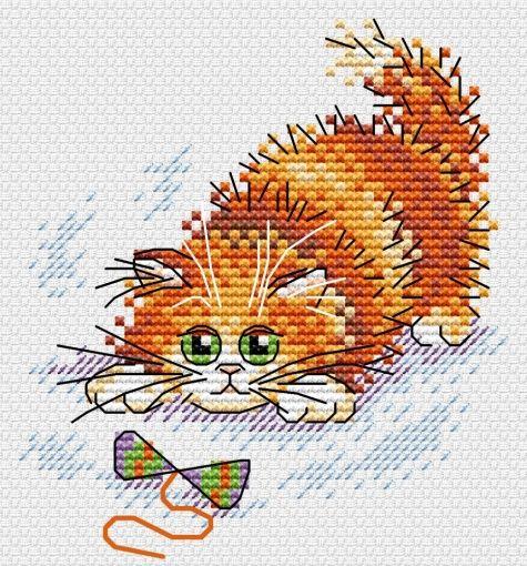 Cross Stitch Kit Kitty M-357