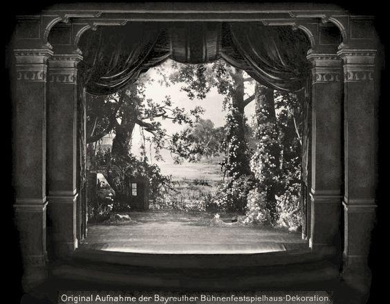 """"""" Parsifal """" 3.Aufzug 1.Bild  1882 Bühnenphoto"""