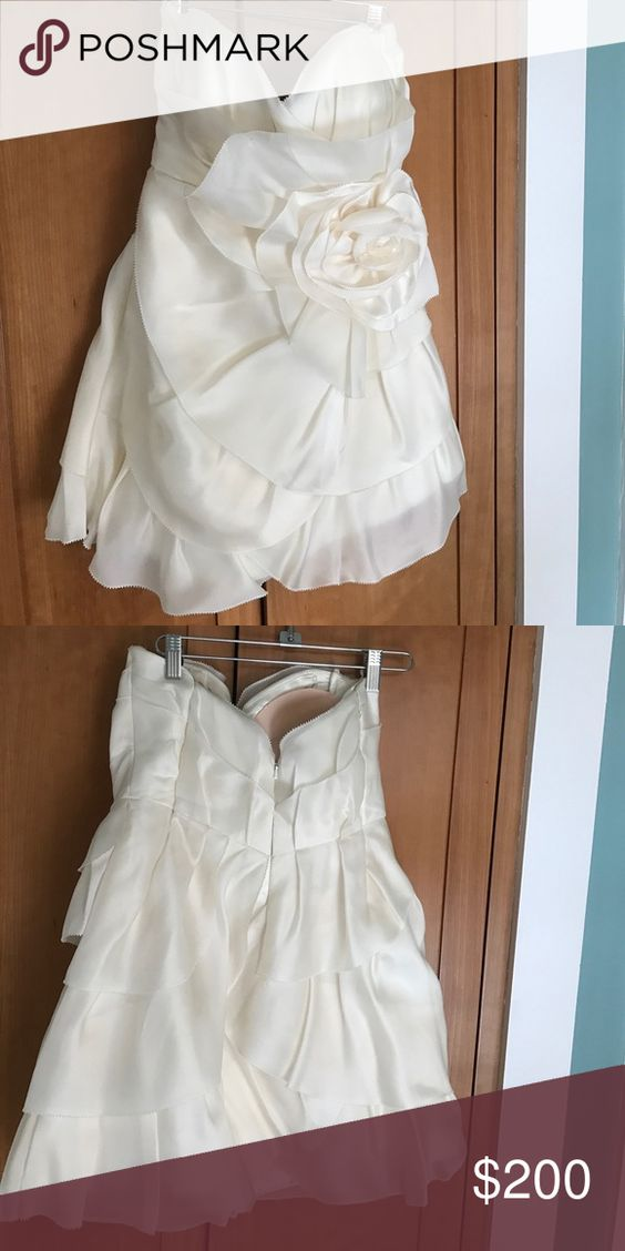 Melissa Sweet Short Wedding Dress 100 Silk Fun Flirty Perfect For Changing