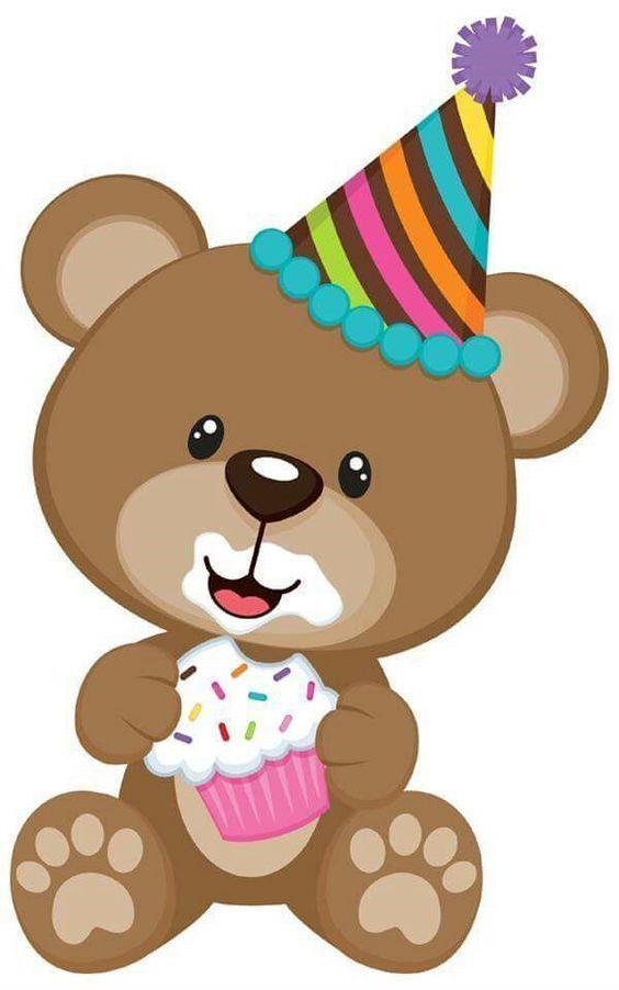 Bear birthday. Fabric t shirt iron