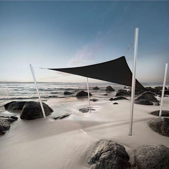 Voile d'Ombrage Ingenua Triangulaire Noir Umbrosa Jardinchic