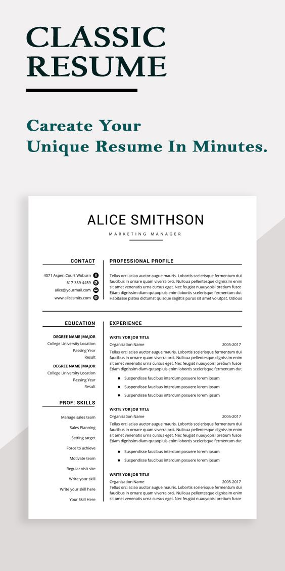 Resume Template Professional Resume Template Instant Etsy In 2021 Resume Template Professional Resume Template Word Resume Words