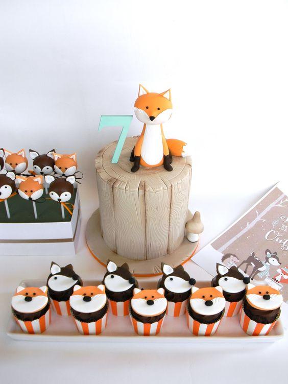 Just call me Martha: Liandra's 7th birthday party - Winter Woodland fox party