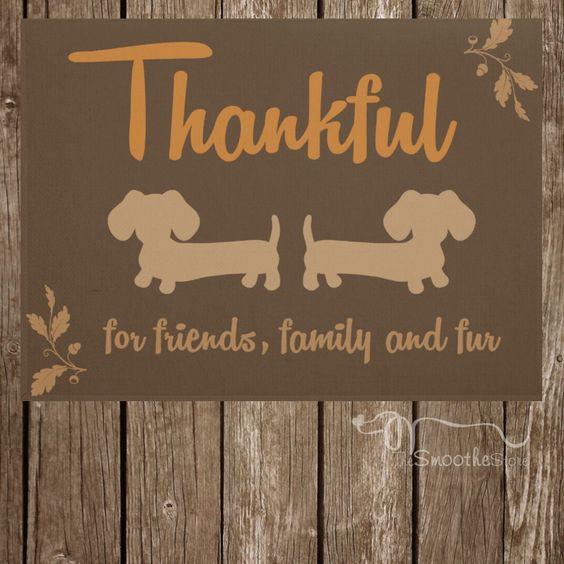 Thankful Autumn Dachshund Doormat