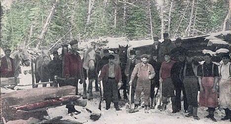Lumber Camp, Grand Rapids Minnesota, 1910