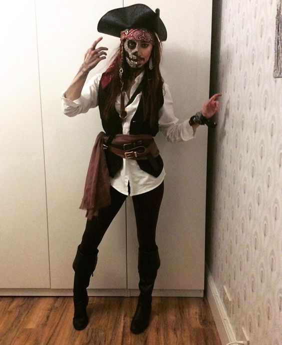 Ladies Mens Brown Leather Look Pirate Party Fancy Dress Costume Hat Accessory