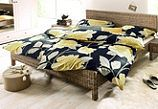 Klassische, elegante #Bettwaesche der Marke »Damai«. Das dezente Dessin »Rosseau«, in eleganter Blüten-Optik, fügt sich perfekt dezent in jedes #Schlafzimmer.  Die #Bettwaesche besteht aus einer hochwertigen Mako-Satin-Qualität, welche aus reiner Baumwolle besteht.