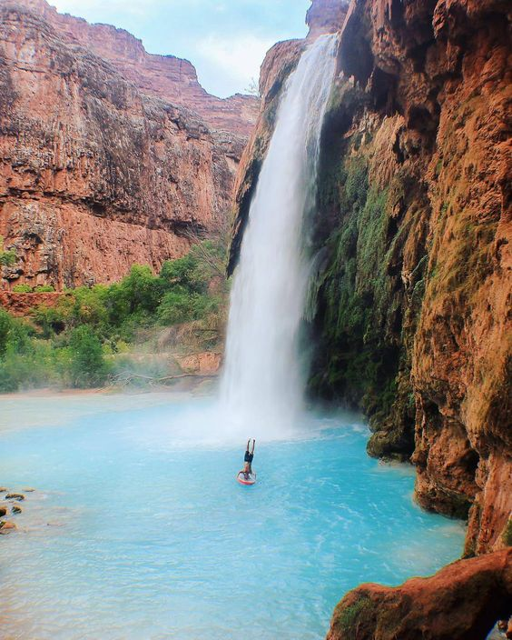 Places To Visit In The Fall In Usa: Havasu Falls Just Outside Grand Canyon National Park