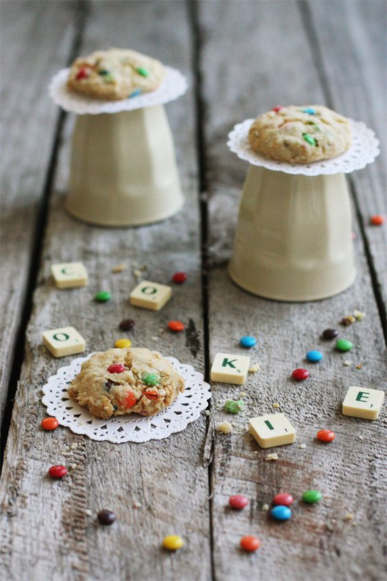 Quinoa and M Cookies - love the idea of putting this hearty, delicious grain to work in cookies. #food #cookies #quinoa