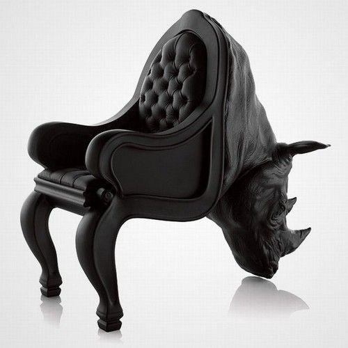 Weird and rad rhino-chair