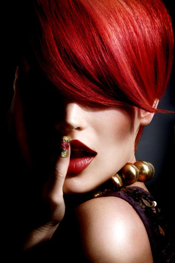 Red hot hair colour