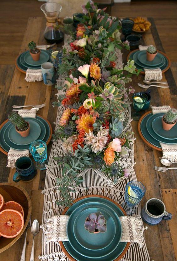 Vestir la mesa con tonos otoñales