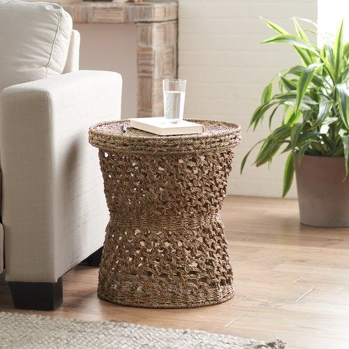 SONOMA Goods for Life™ Decorative Seagrass Tray Top Storage End Table | null