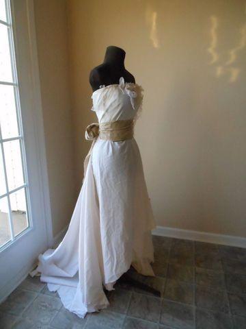 Rustic Wedding Dress Romantic Shabby Boho Linen Beach Natural Earthy Alternat