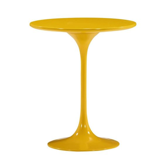 This one's a zinger. Sleek, sexy, and functional, this versatile piece comes in a citrine color that adds pop to any room.