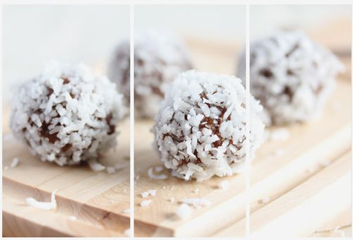 A Healthy Option - Chocolate & Coconut Bliss Balls
