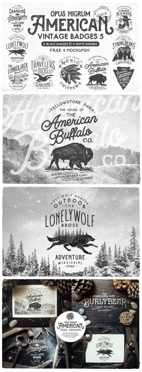 American Vintage Badges 5 by OpusNigrum: