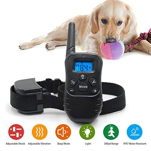 Dog Collar Rechargeable And Waterproof Shock Collar W 3 Training
